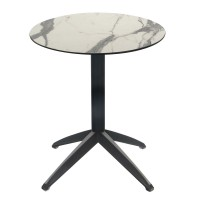White Marble Table With Braga Flip Top Base Outdoor