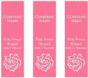 Perfectly Pink Badge Ribbons Vertical
