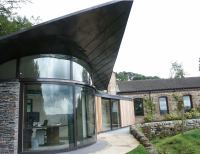Curved Glass Sliding Doors in Yorkshire