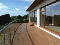 Curved Glass Balcony in Rural Scotland