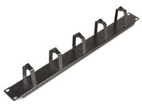 """CABLEMANA-1 MicroConnect Cable Management 19"""" 1U  D-rings Black - eet01"""