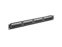 PP-010 MicroConnect Patch Panel CAT 5e 24 port Unshielded.LSA Terminals,Black - eet01