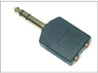AUDANS MicroConnect Adapter 6.3mm - 2X3.5mm M-F Stereo - eet01