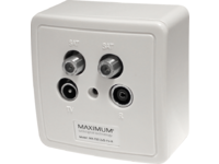 Maximum Wall outlet MX 700 2xSAT/TV/Radio - White 1212 - eet01