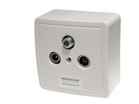 Maximum Wall outlet MX 610 SAT/TV/Radio - White 1210 - eet01