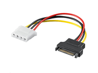 "MicroConnect SATA 15 Male - 4pin female S-ATA plug -  5.25"" jack PI18041 - eet01"