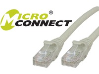 MicroConnect U/UTP CAT6 25M Grey Snagless Unshielded Network Cable, UTP625BOOTED - eet01