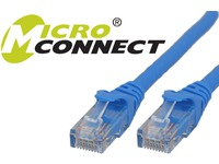MicroConnect U/UTP CAT6 1.5M Blue, Snagless Unshielded Network Cable, UTP6015BBOOTED - eet01