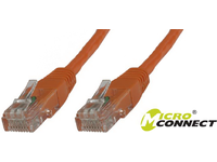 MicroConnect U/UTP CAT6 0.5M Orange PVC Unshielded Network Cable, B-UTP6005O - eet01