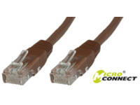 MicroConnect U/UTP CAT6 0.5M Brown LSZH Unshielded Network Cable, UTP6005BR - eet01