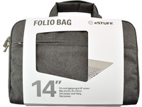 ESTUFF Folio Bag for 14'' Laptops With carrying handles ES82260-TWILL - eet01