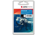 AgfaPhoto Ink Black HP No. 62 XL Pages 600, 12ml APHP62BXL - eet01