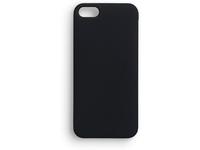 ESTUFF IPhone 5/5S Backcover Black Softgrip Rubber Coated ES80203BULK - eet01