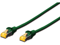 MicroConnect S/FTPCAT6A 0.5M Green Snagless LSZH, Full copper AWG27 SFTP6A005GBOOTED - eet01