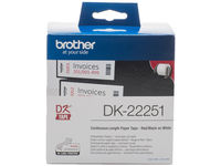 Brother Paper Tape Red/Black 62mm 15,24 m. DK22251 - eet01