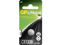 GP Batteries GP LITHIUM BUTTON CELL CR1220 Blister with 1 battery. 3V CR1220 1-P - eet01