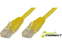 MicroConnect U/UTP CAT6 0.25M Yellow PVC Unshielded Network Cable, B-UTP60025Y - eet01