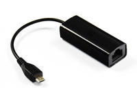 MicroConnect USB MICRO to Ethernet, Black  USBMICROETHBB - eet01