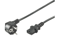 MicroConnect Power Cord 0,5m Black IEC320 Angled Connector Schuko PE010405 - eet01