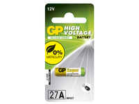 GP Batteries HIGH VOLTAGE 27A Blister with 1 battery. 12V 27A 1-P 27A - eet01