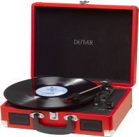 Denver USB turntable with PC sw  VPL-120RED - eet01