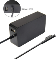MicroSpareparts Mobile AC Adapter surface pro 65W Power Adapter 1706 15V 4A 60W MSPT2006PRO - eet01