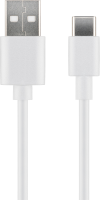 MicroConnect USB3.1 C -  USB2.0 0.5M White Charging and Sync cable Max.3A USB3.1CCHAR05W - eet01