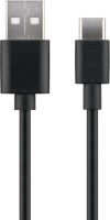 MicroConnect USB3.1 C -  USB2.0 1M Black Charging and Sync cable Max.3A USB3.1CCHAR1B - eet01