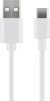 MicroConnect USB3.1 C -  USB2.0 3M White Charging and Sync cable Max.3A USB3.1CCHAR3W - eet01