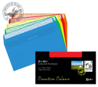 25123 Blake Creative Colour Assorted Peel & Seal Wallet 114X229mm 120Gm2 Pack 25 Code 25123 3P- 25123