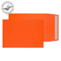 9050 Blake Creative Colour Pumpkin Orange Peel & Seal Gusset Pocket 324X229X25mm 140G Pk125 Code 9050 3P- 9050