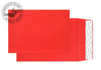 9060 Blake Creative Colour Pillar Box Red Peel & Seal Gusset Pocket 324X229X25mm 140G Pk125 Code 9060 3P- 9060