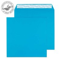 610 Blake Creative Colour Caribbean Blue Peel & Seal Square Wallet 160X160mm 120Gm2 Pack 500 Code 610 3P- 610