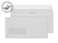 91884 Blake Premium Business Diamond White Laid Window Peel & Seal Wallet 110X220 120G Pk500 Code 91884 3P- 91884