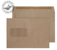 1608 Blake Purely Everyday Manilla Window Self Seal Wallet 162X229mm 90Gm2 Pack 500 Code 1608 3P- 1608