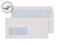 8884 Blake Purely Everyday White Window Self Seal Wallet 110X220mm 110Gm2 Pack 500 Code 8884 3P- 8884
