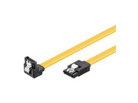 MicroConnect SATA cable 6GB, SATA III 0,70M Sata Male 90 to Sata Male SAT15007A1C6 - eet01