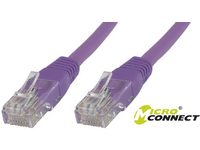 MicroConnect U/UTP CAT6 0.5M Purple PVC Unshielded Network Cable, B-UTP6005P - eet01