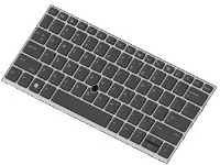 HP Keyboard W/Point Stick Den  L13698-081 - eet01