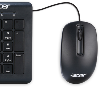 Acer MOUSE WIRED USB BLACK  NP.MCE1A.006 - eet01