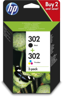 HP Ink/302 Cart Combo 2-Pack **New Retail** X4D37AE - eet01