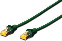 MicroConnect S/FTP CAT6A 2M Green Snagless LSZH, Full copper AWG27 SFTP6A02GBOOTED - eet01