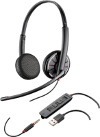 Plantronics Poly Blackwire 325 - 300 Series - Headset - On-ear - Wired - Usb  3.5 Mm Jack 204446-102 - xep01