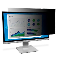 "3m 3m Privacy Filter For 22"" Widescreen Monitor - Display Privacy Filter - 22"" Wide - Black Pf220w1b - xep01"