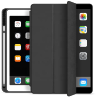 ESTUFF Pencil case iPad 9.7 2017/2018 Black. PU leather front with  ES682085-BULK - eet01