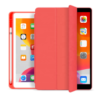 ESTUFF Pencil case iPad 9.7 2017/2018 Red. PU leather front with  ES682087-BULK - eet01