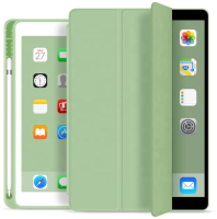 ESTUFF Pencil case iPad 9.7 2017/2018 Light Green. PU leather front  ES682089-BULK - eet01