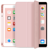 ESTUFF Pencil case iPad 9.7 2017/2018 Pink. PU leather front with  ES682090-BULK - eet01
