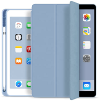 ESTUFF Pencil case iPad 9.7 2017/2018 Sky Blue. PU leather front  ES682093-BULK - eet01