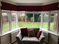 Blackout Lined Roman Blinds In Mansfield